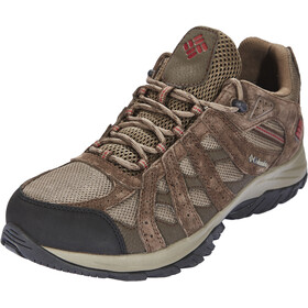 Columbia Canyon Point WP Shoes Men Mud/Red Element